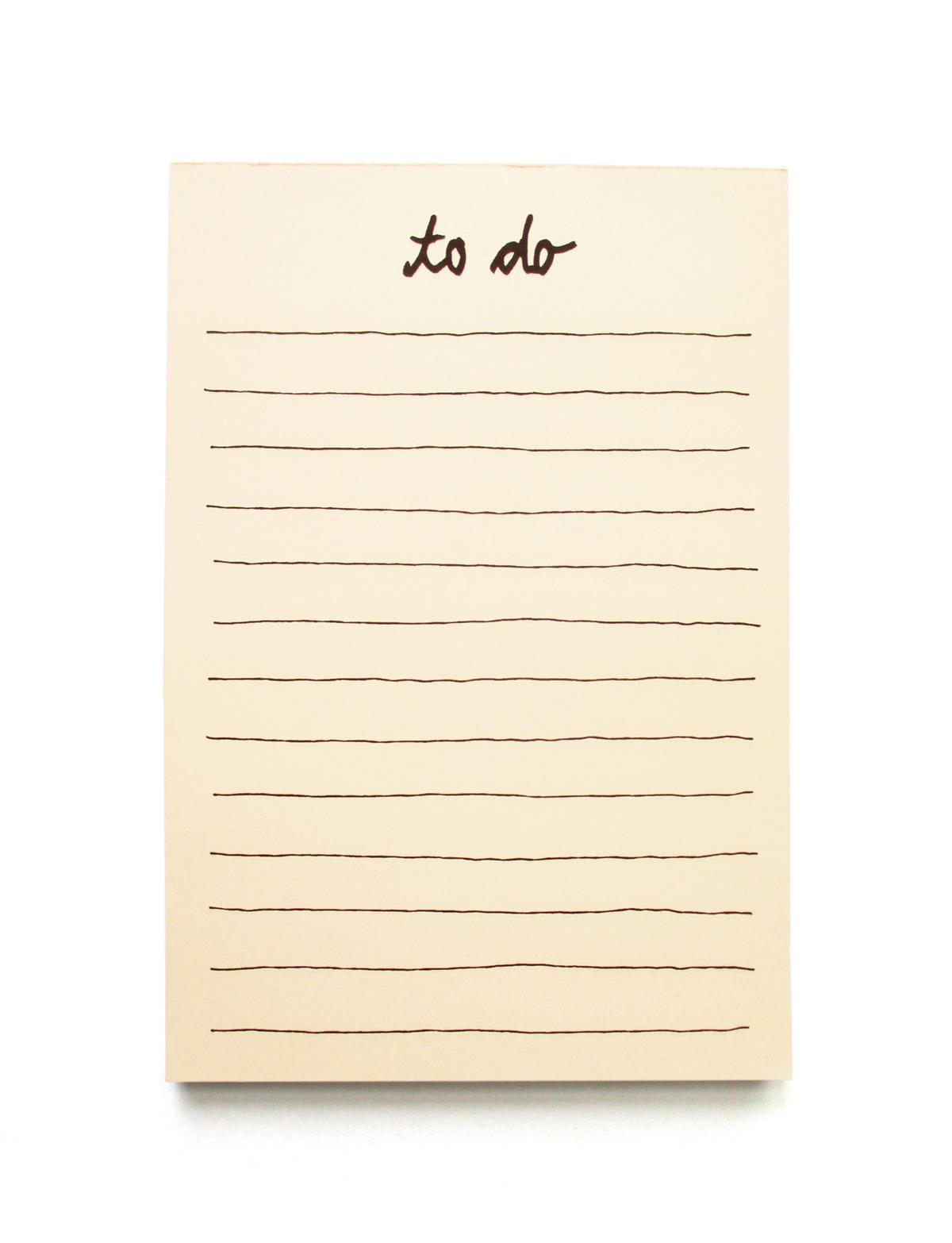 petersen writing pad to do liste petersen. Black Bedroom Furniture Sets. Home Design Ideas