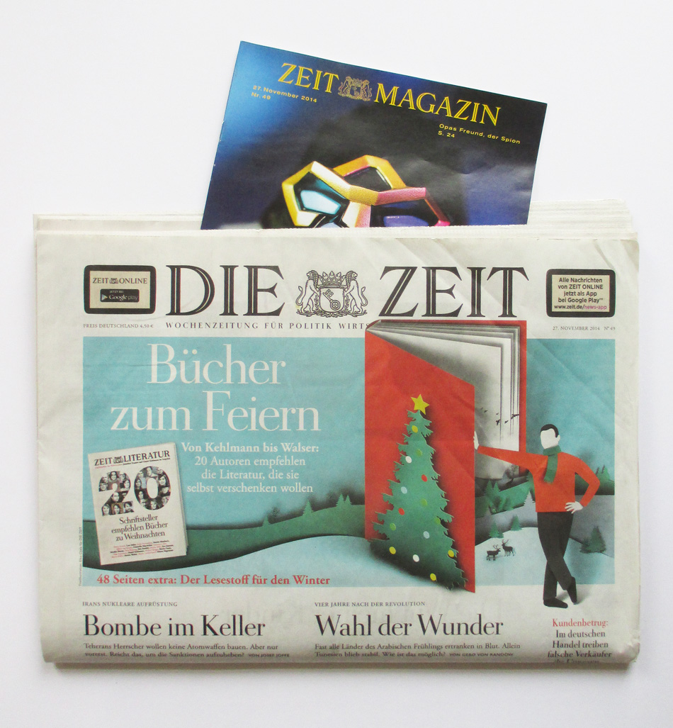DIE ZEIT Magazin PETERSEN hellopetersen Enjoy it becuase it´s happening poster