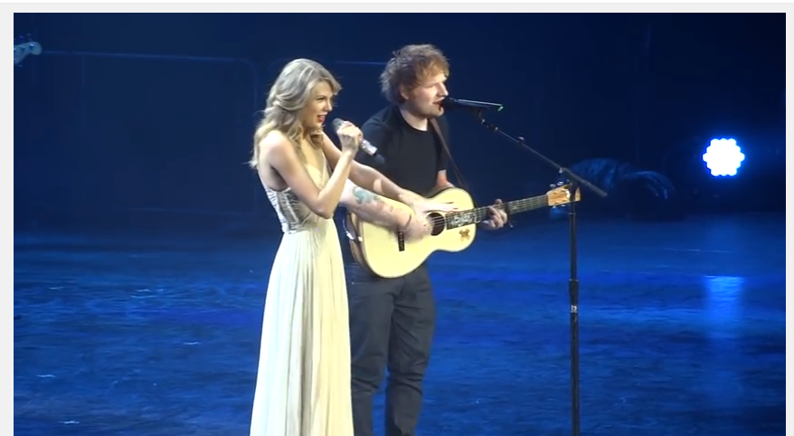 Ed Sheeran Taylor Swift performing I see fire