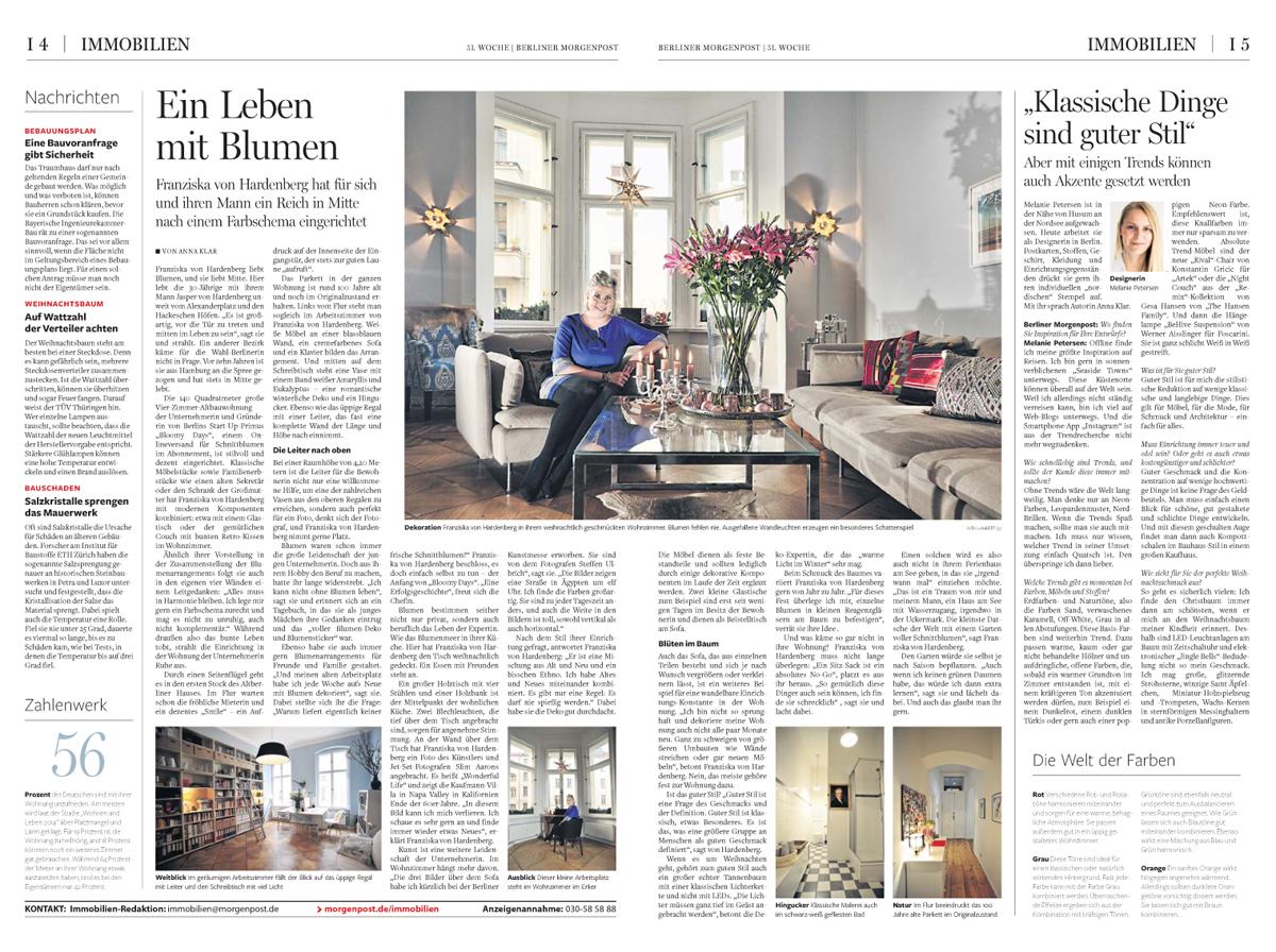 Berliner Morgenpost Interview Bloomy Days Petersen_2