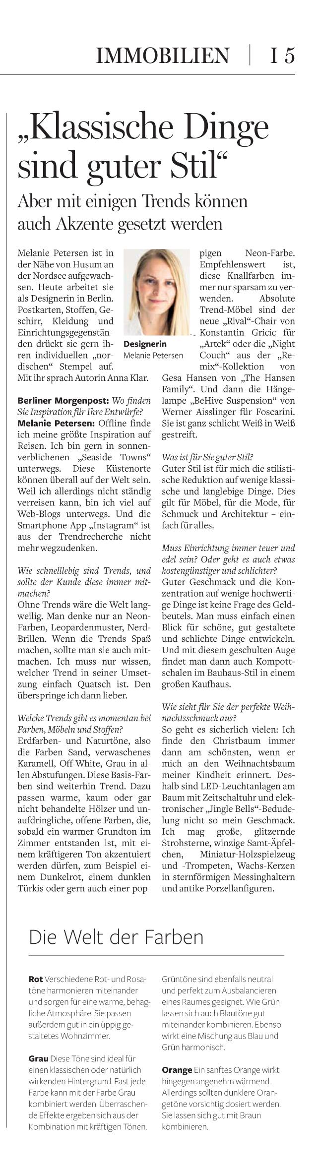 Berliner Morgenpost Interview Bloomy Days Petersen_3